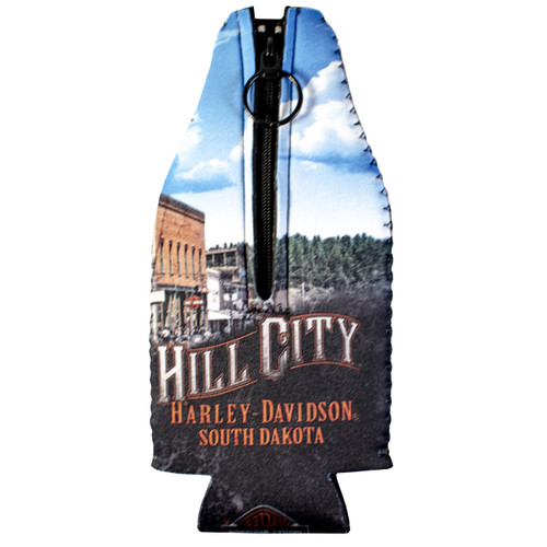 Hill City Harley-Davidson Vintage Collage Zip Bottle Coozie