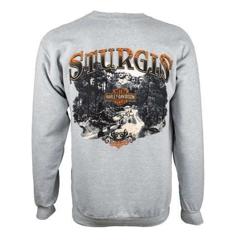 Sturgis Harley-Davidson® Men's Riding Scene Light Wash Grey Sweatshirt