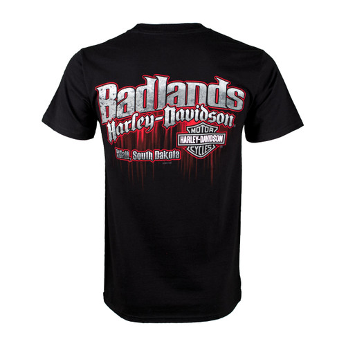 Badlands Harley-Davidson® Men's Edge Black Short Sleeve T-Shirt