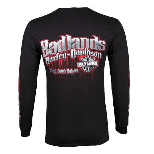 Badlands Harley-Davidson® Men's Edge Black Long Sleeve T-Shirt