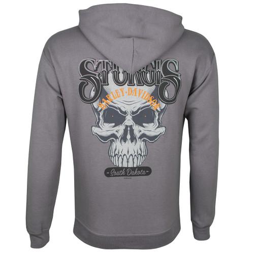 Sturgis Harley-Davidson® Men's Skull Hat Charcoal Hoodie