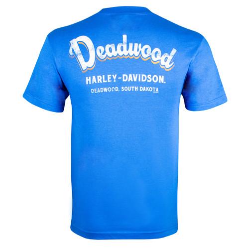 Deadwood Harley-Davidson® Men's Vintage Royal Blue T-Shirt