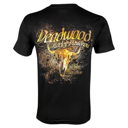 Deadwood Harley-Davidson® Men's Deadwood Town Black Short Sleeve T-Shirt
