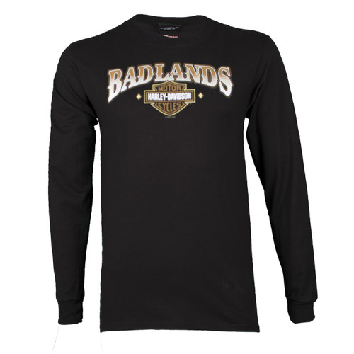 Badlands Harley-Davidson® Men's Thenadays Black Long Sleeve Shirt