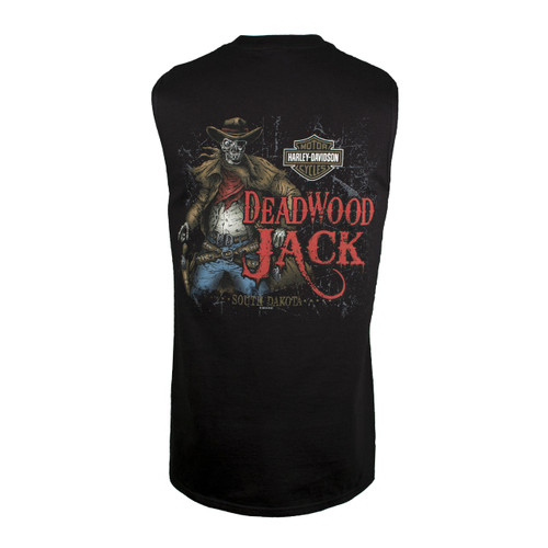 Deadwood Harley-Davidson® Men's Dead Eye Jack Black Sleeveless T-Shirt