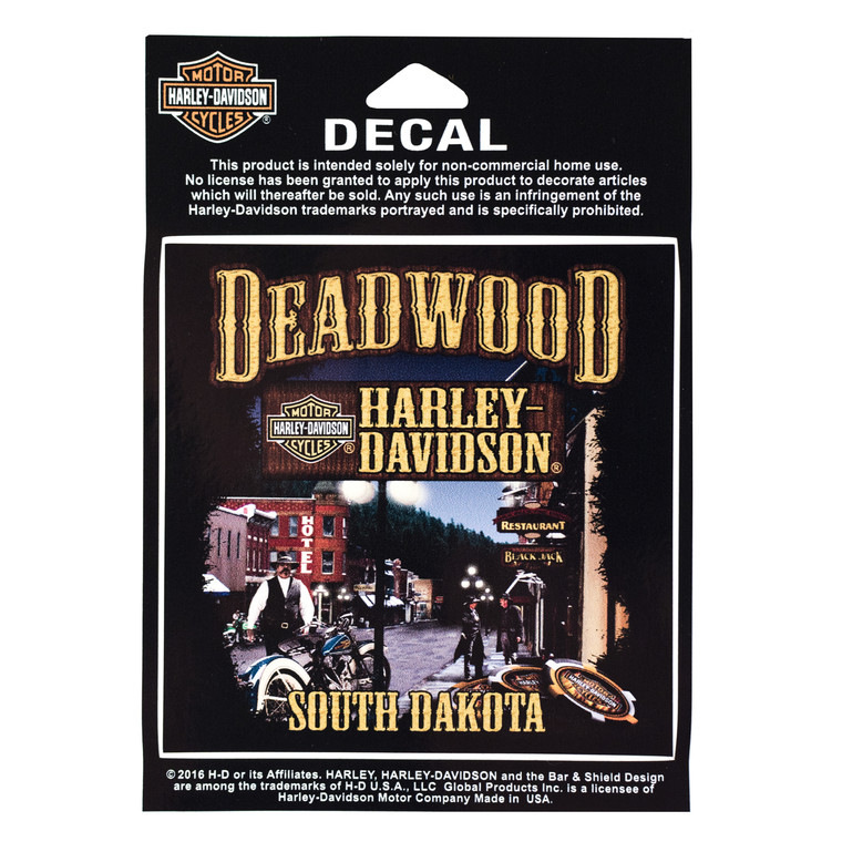 Deadwood Harley-Davidson® Main Street Decal