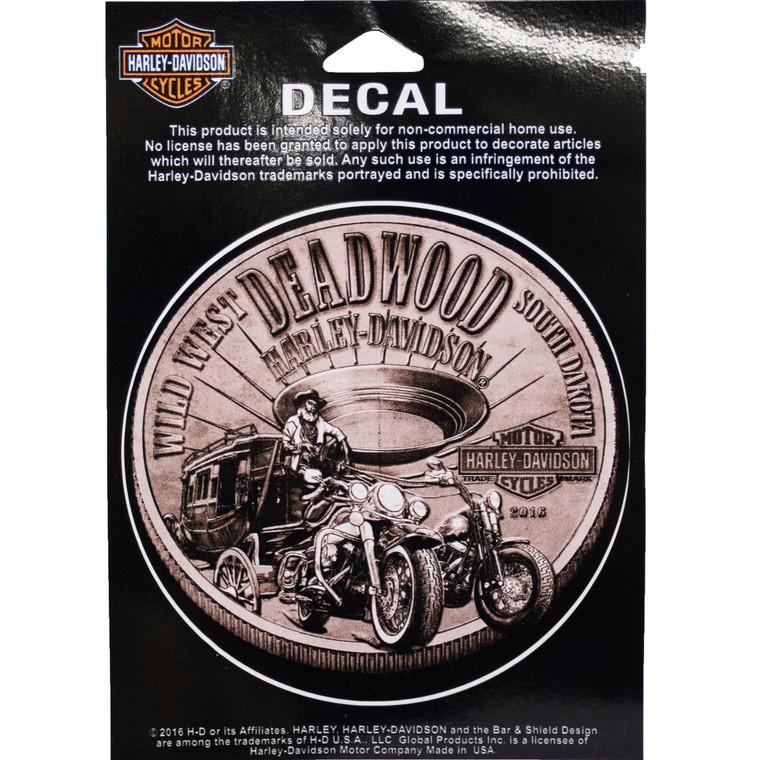 Deadwood Harley-Davidson® Bronze Coin Decal