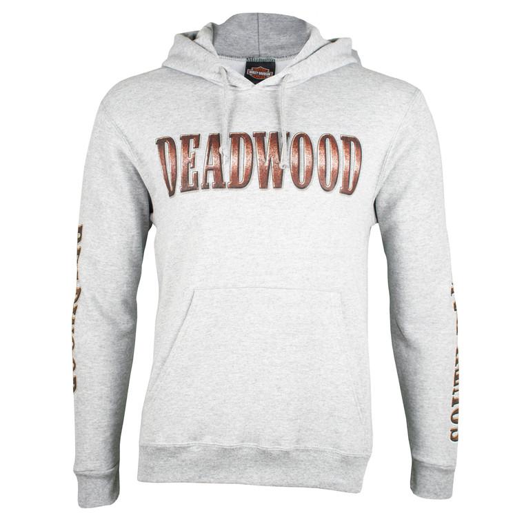 Deadwood Harley-Davidson® Men's Bronze Coin Steel Heather Pullover Hoodie