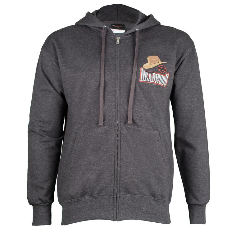 Deadwood Harley-Davidson® Men's Old Hat Zip-Up Hoodie