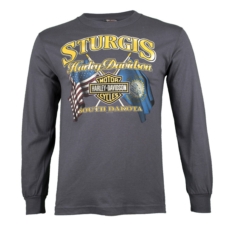 Sturgis Harley-Davidson® Men's Ft. Meade Biker Long Sleeve T-Shirt