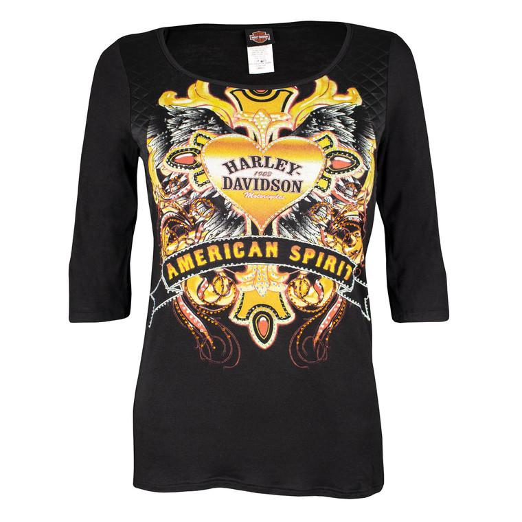 Harley-Davidson® Women's American Spirit 3/4-Sleeve Shirt