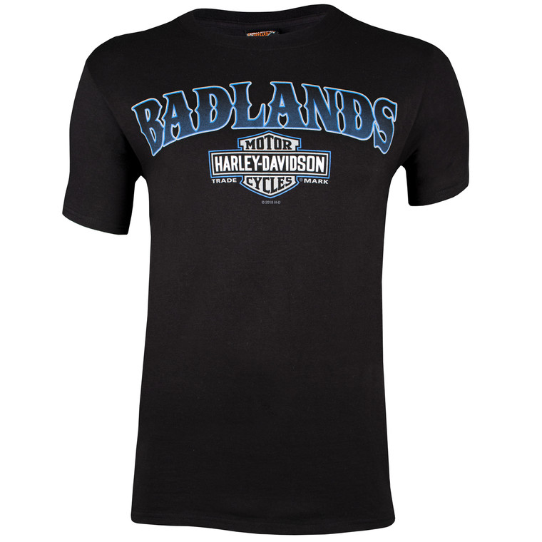 Badlands Harley-Davidson® Men's Homestead Black Short Sleeve T-Shirt