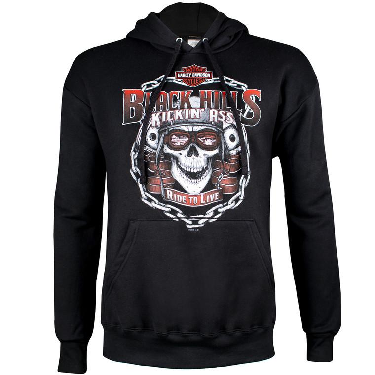 Black Hills Harley-Davidson® Men's Kickin' Ass Pullover Hoodie Sweatshirt