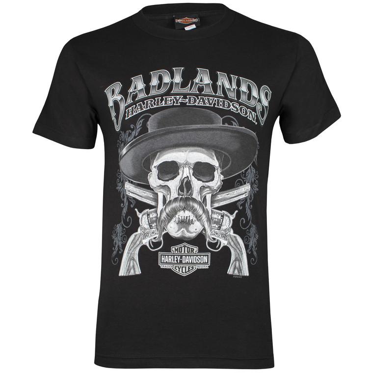 Badlands Harley-Davidson® Men's Cowboy Black Short Sleeve T-Shirt