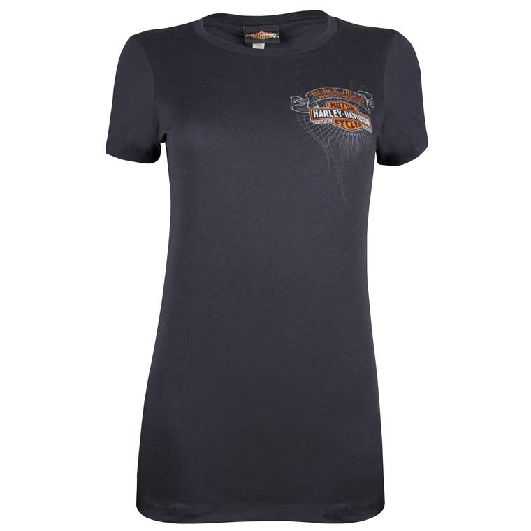 Black Hills Harley-Davidson® Women's Sketched Wings Short Sleeve T-Shirt