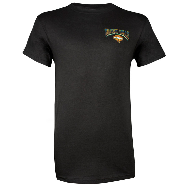 Black Hills Harley-Davidson® Men's Patriot Black Short Sleeve T-Shirt
