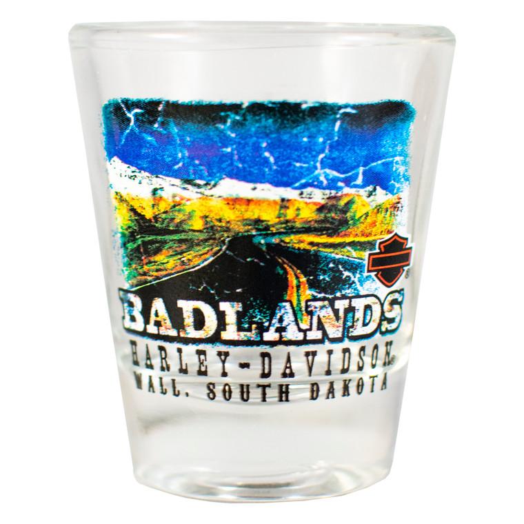 Badlands Harley-Davidson® Road Short Shot Glass