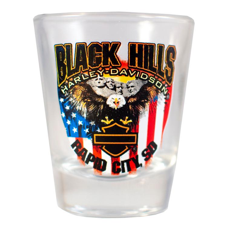 Black Hills Harley-Davidson® Patriotic Eagle Short Shot Glass