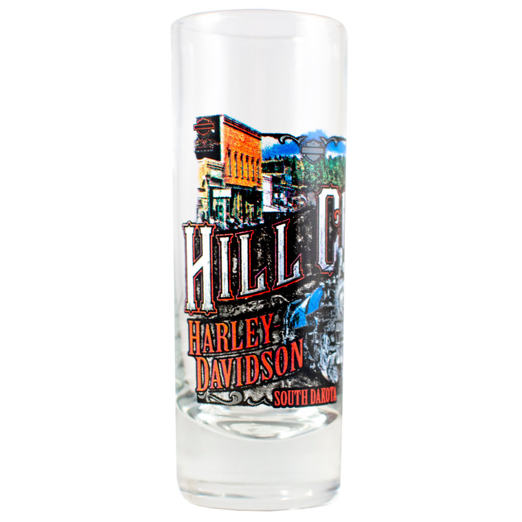 Hill City Harley-Davidson® Vintage Collage Tall Shot Glass