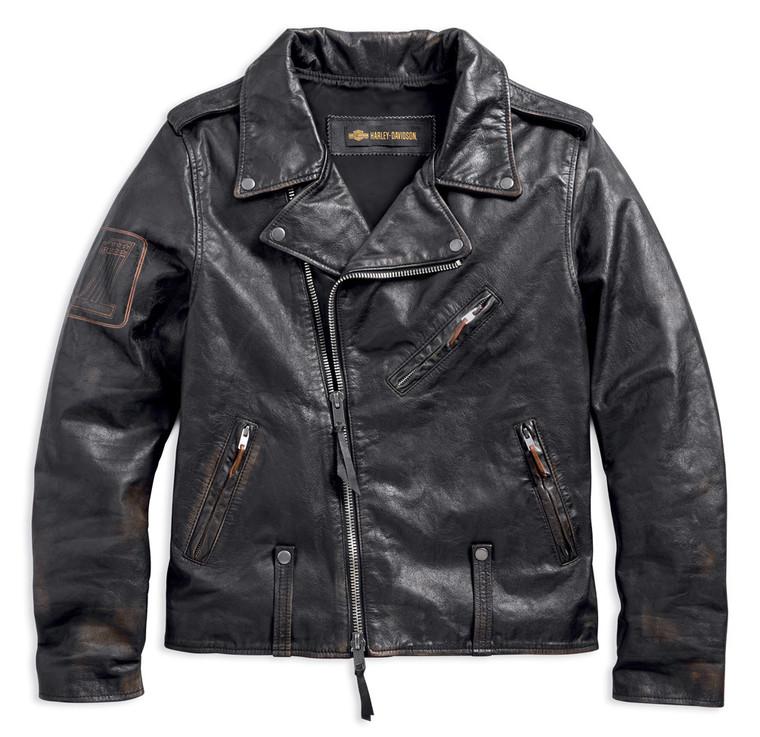 Harley-Davidson® Men's Master Distressed Slim Fit Leather Biker Jacket 98003-18VM