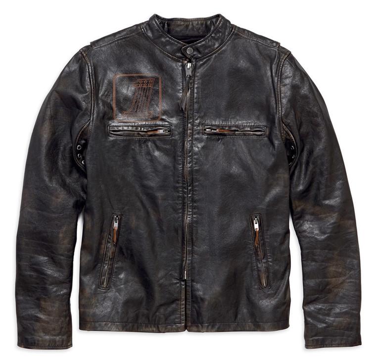 Harley-Davidson® Men's Speed Distressed Slim Fit Leather Jacket 98004-18VM
