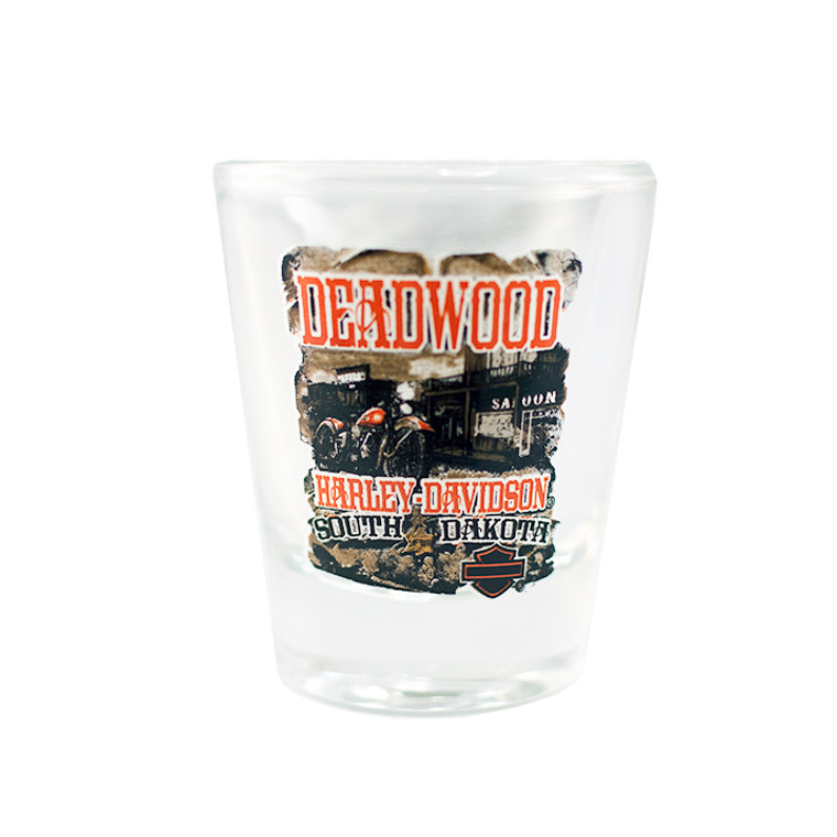 Deadwood Harley-Davidson® Vintage Saloon Short Shot Glass
