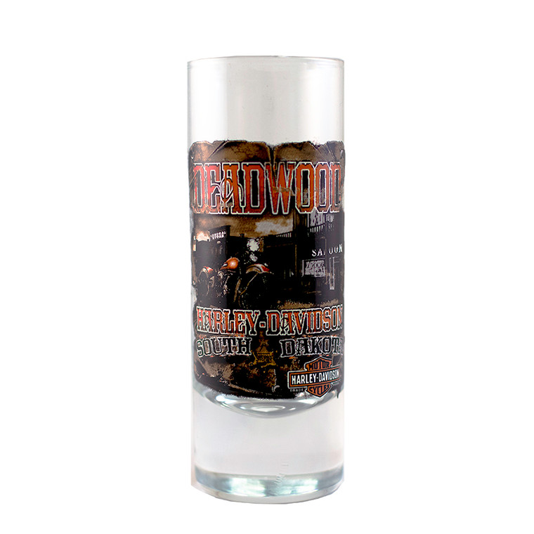 Deadwood Harley-Davidson Vintage Saloon Tall Shot Glass