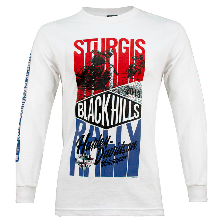 2019 Sturgis Harley-Davidson® Men's Endurance 79th Rally White Long Sleeve Shirt