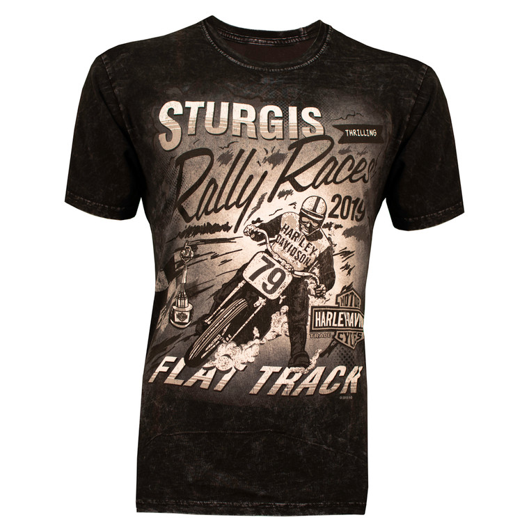 2019 Sturgis Harley-Davidson® Men's Flat Tracker 79th Rally Mineral Wash T-Shirt