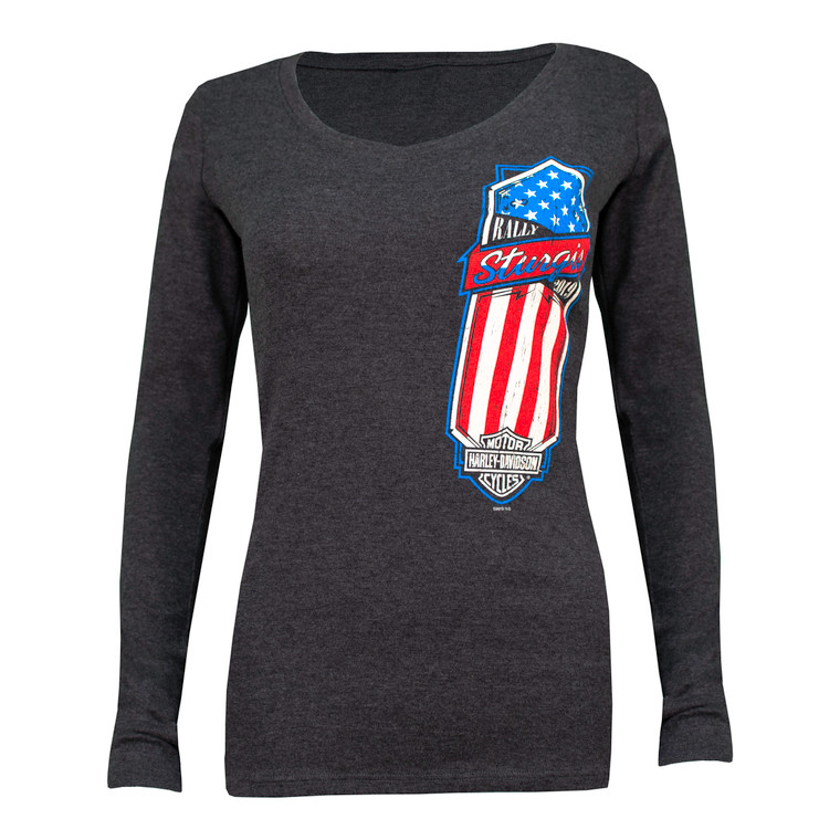 2019 Sturgis Harley-Davidson Women's Shield 79th Rally Long Sleeve Shirt