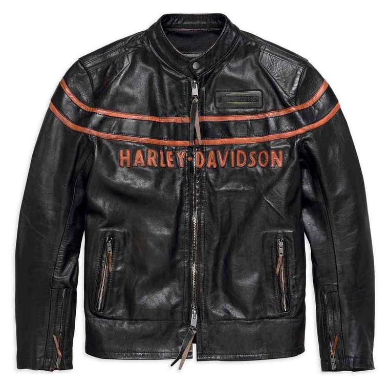 Harley-Davidson® Men's Double Ton Slim Fit Leather Jacket 98033-18VM