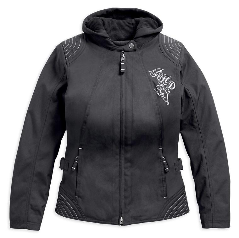 Harley-Davidson® Women's Scroll Skull 3-In-1 Riding Jacket 98246-18VW