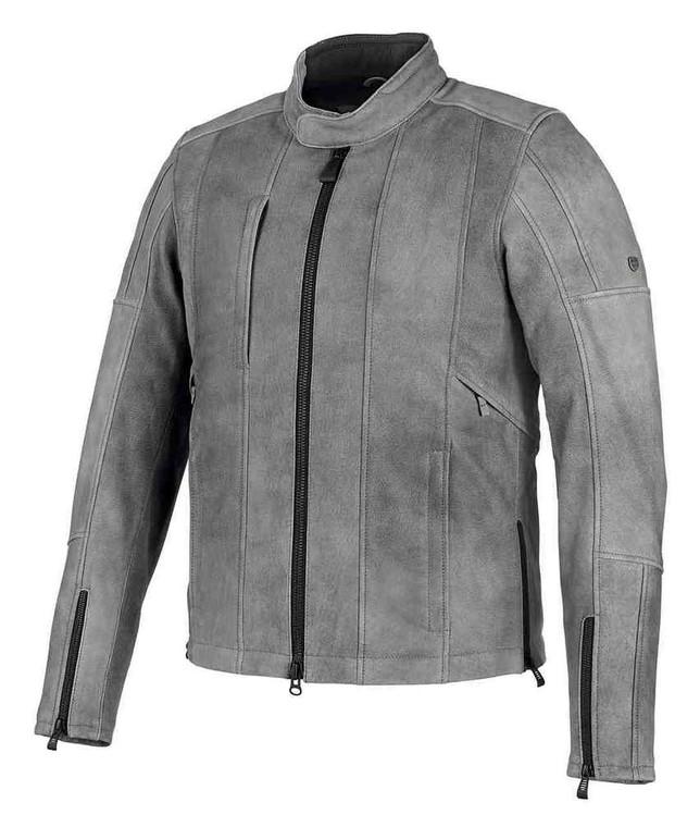 Harley-Davidson® Men's Burghal Slim Fit Gray Leather Jacket 98061-19VM
