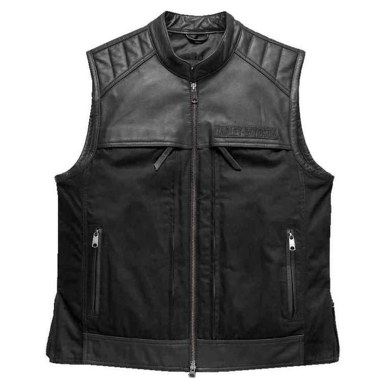Harley-Davidson® Men's Synthesis Pocket System Leather/Textile Vest 98120-17VM