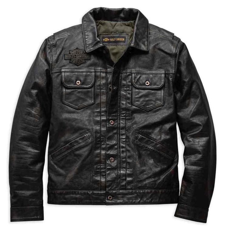 Harley-Davidson® Men's Digger Leather Jacket 98036-19VM