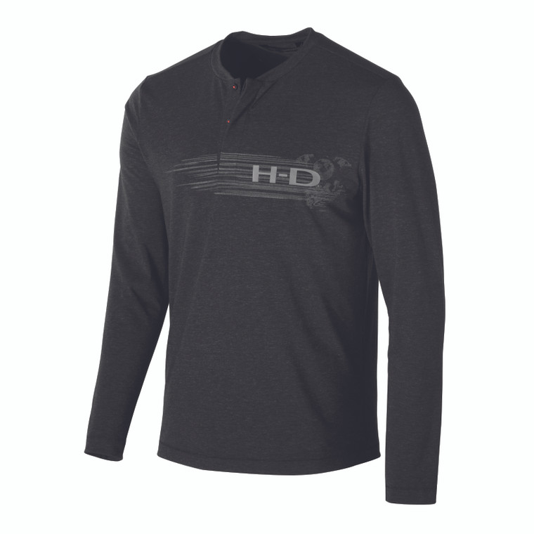 Harley-Davidson® Men's Merino Wool Blend Slim Fit Henley 99149-19VM