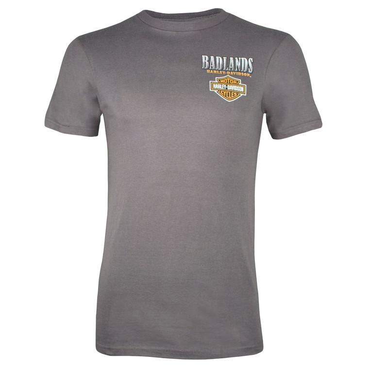 Badlands Harley-Davidson® Men's Metal Buffalo Short Sleeve T-Shirt