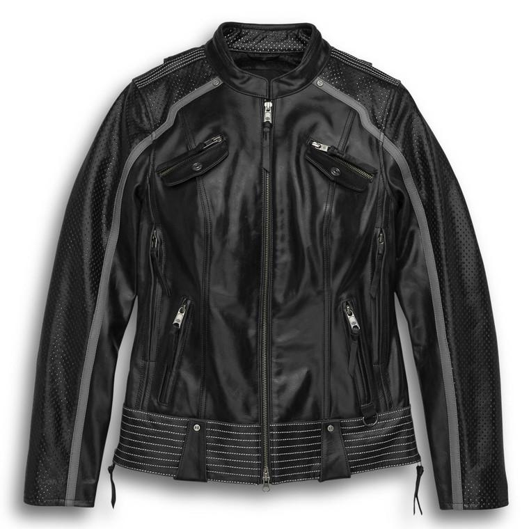 Harley-Davidson® Women's Hairpin Leather Jacket 98029-18VW