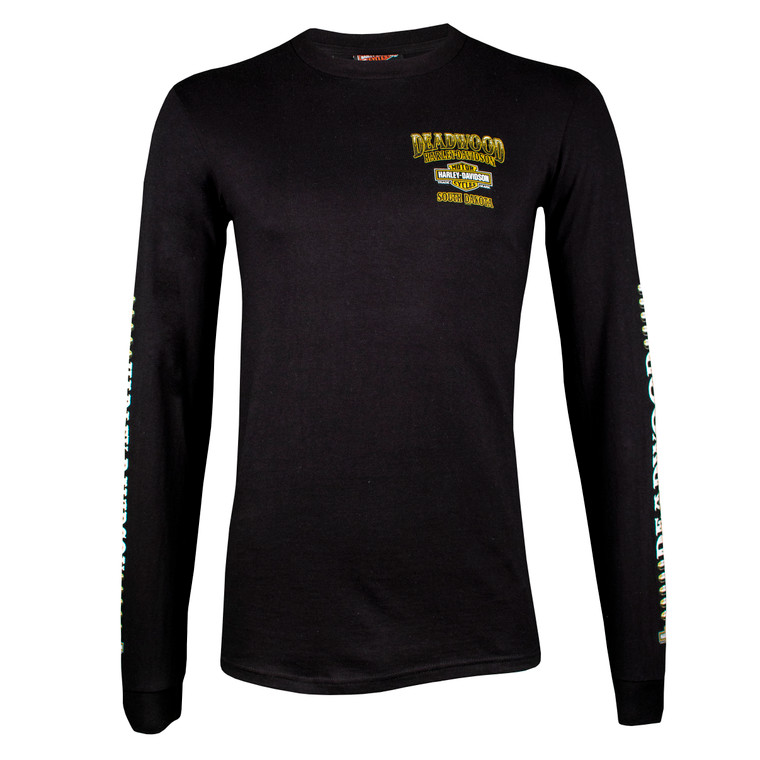 Deadwood Harley-Davidson® Men's Face Off Long Sleeve T-Shirt