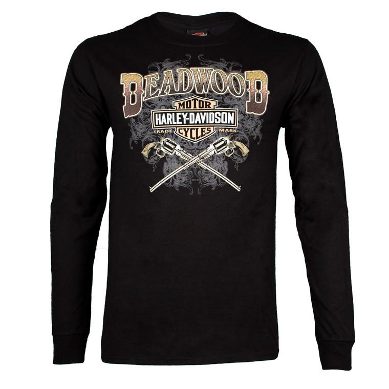 Deadwood Harley-Davidson® Men's Wild Bill Guns Long Sleeve T-Shirt