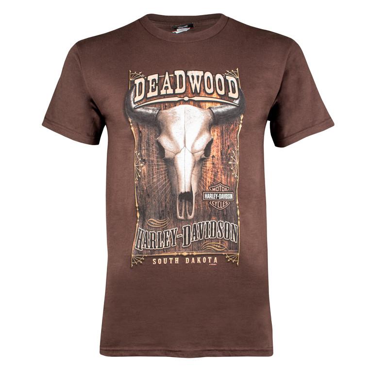 Deadwood Harley-Davidson® Men's Bison Skull Short Sleeve T-Shirt