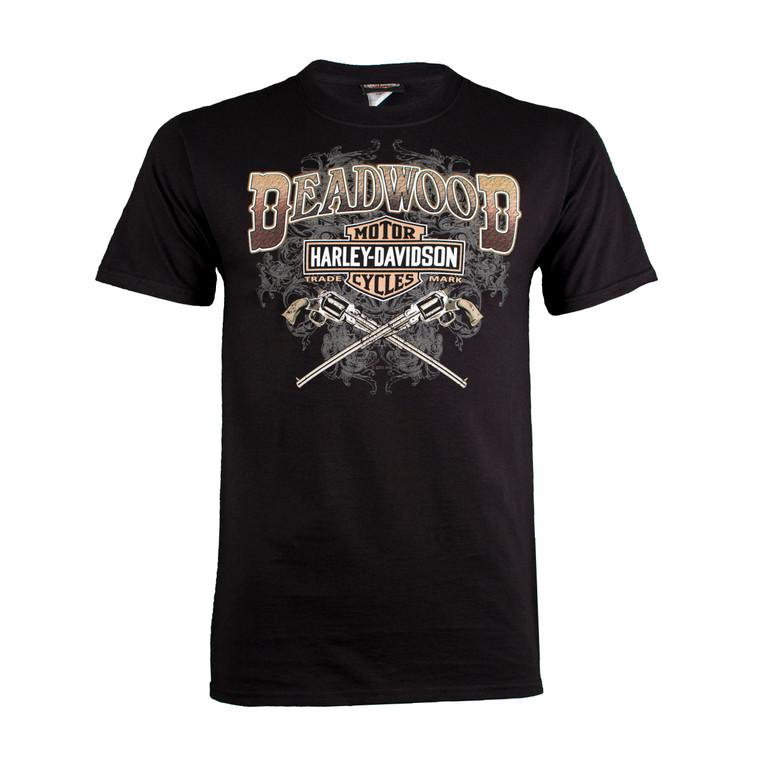 Deadwood Harley-Davidson® Men's Wild Bill Guns Short Sleeve T-Shirt