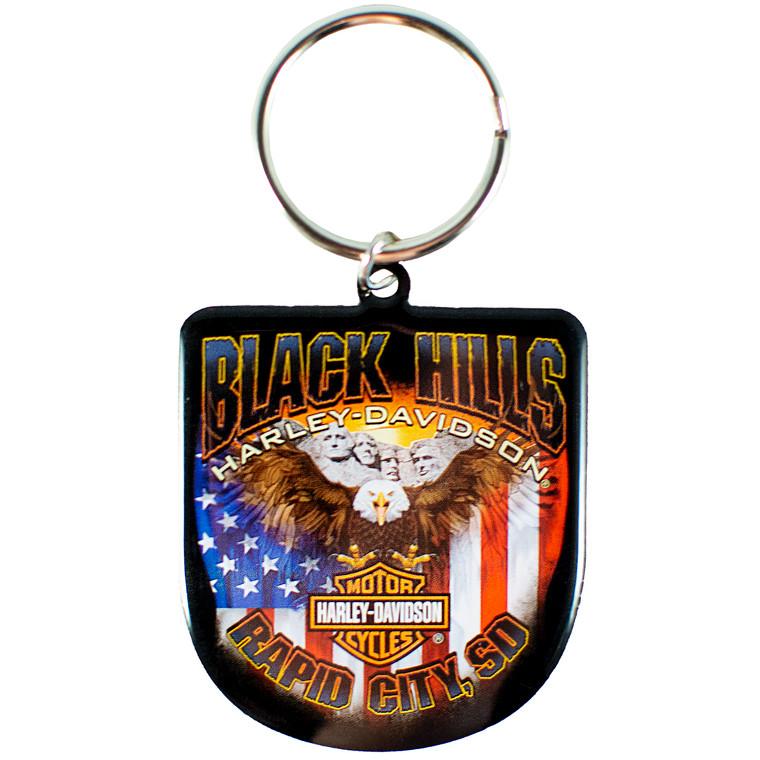 Black Hills Harley-Davidson® Patriotic Eagle Keychain