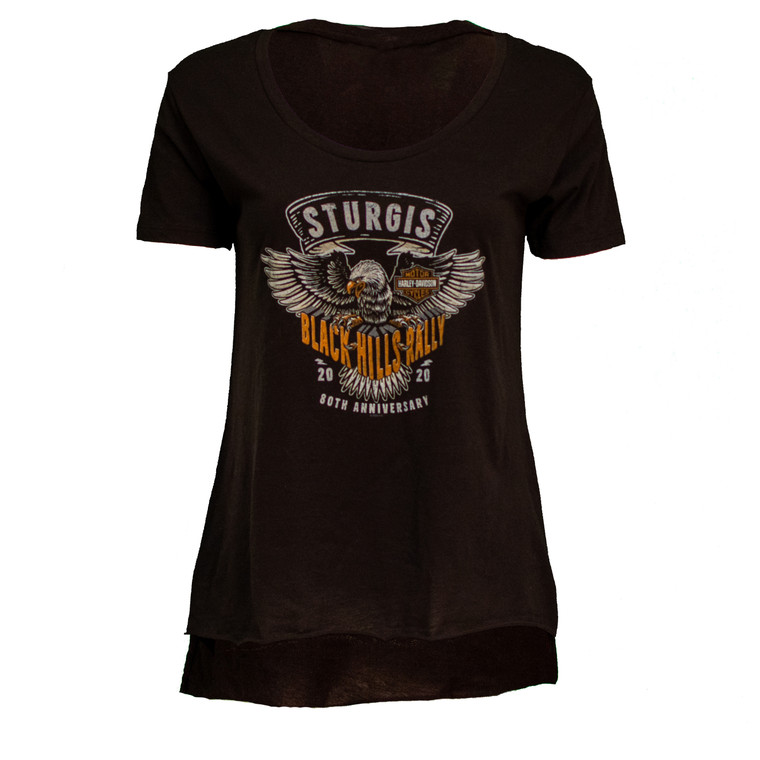2020 Sturgis Harley-Davidson® Women's Clutched 80th Rally High-Low T-Shirt