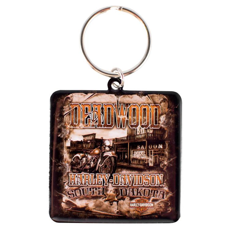 Deadwood Harley-Davidson® Vintage Saloon Keychain