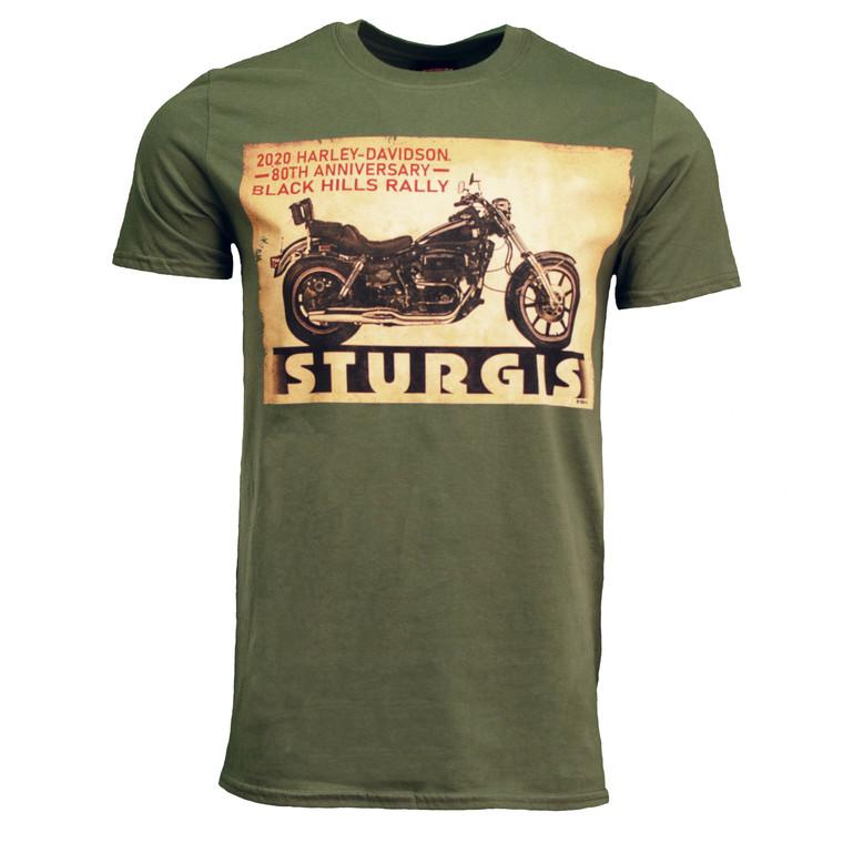 2020 Sturgis Harley-Davidson® Men's MC Poster 80th Rally T-Shirt