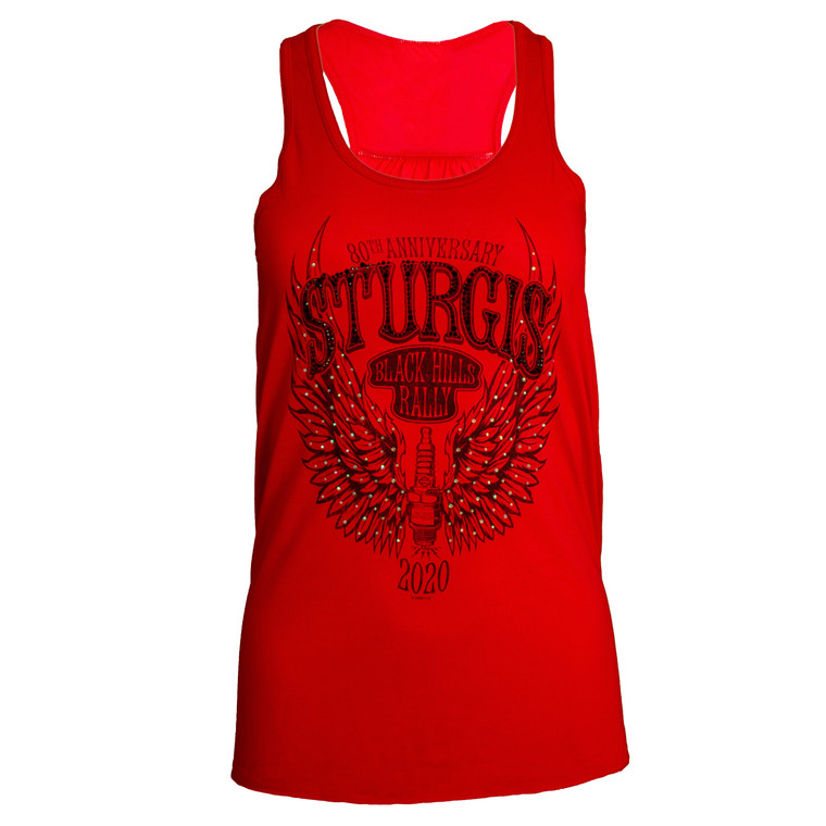 2020 Sturgis Harley-Davidson® Women's Spark Plug 80th Rally Red Tank Top