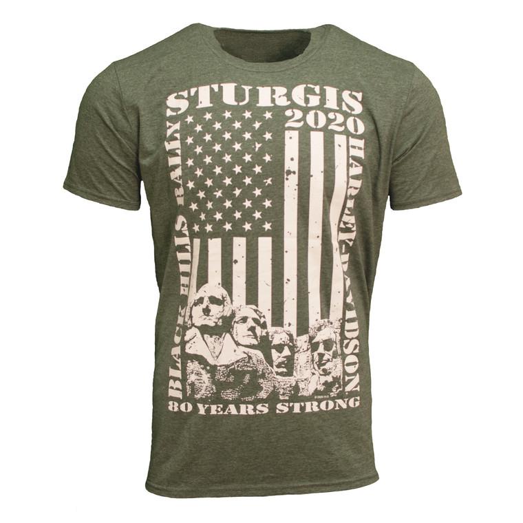 2020 Sturgis Harley-Davidson® Men's Strong Flag 80th Rally T-Shirt