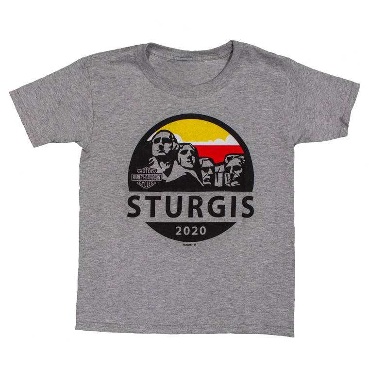 2020 Sturgis Harley-Davidson® Unisex Youth Mt Rushmore Journey 80th Rally T-Shirt