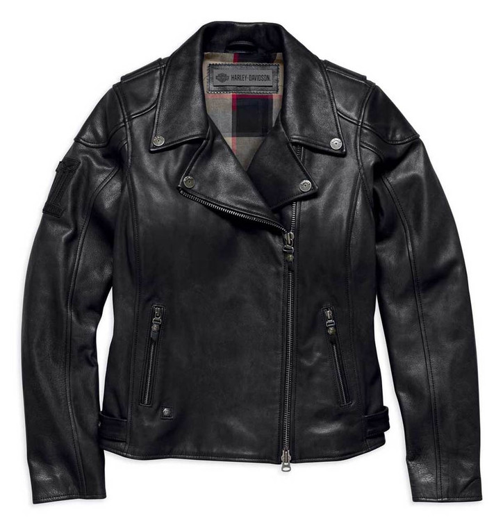 Harley-Davidson® Women's Alameda Heavy-Weight Leather Biker Jacket 98019-18VW